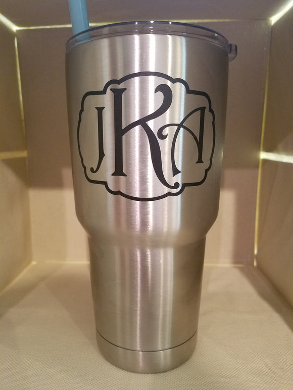 Marie Tumbler Monogram (Sticker Only)