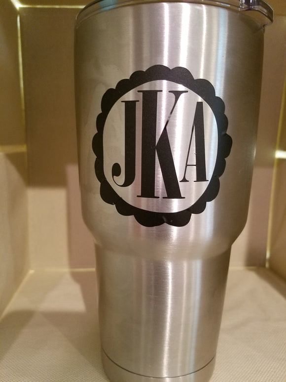 Monogrammed Tumbler Olympia