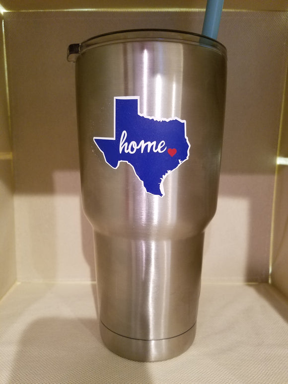 Monogrammed Tumbler State Home