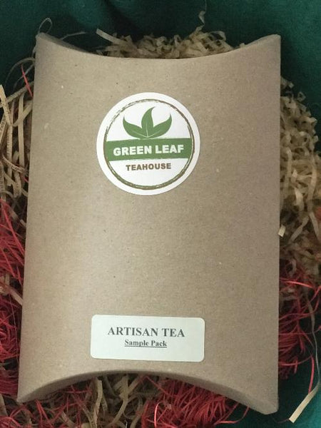 ARTISAN TEA SAMPLE PACK featuring five exclusive tea types from India, China & Taiwan. A great introduction to the world of tea.