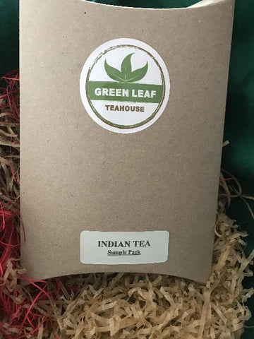 INDIAN TEA SAMPLE PACK includes four popular varieties of Indian black and green teas.