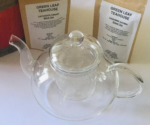 GLASS TEAPOT SET (800ML) | TEA SET | GIFT PACK