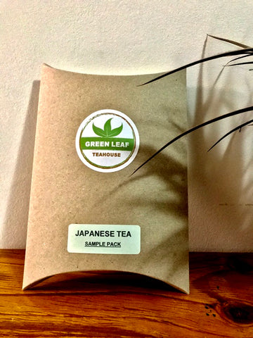 JAPANESE TEA SAMPLE PACK includes four popular, traditional green and herbal teas. Its a good introduction to Japanese teas.