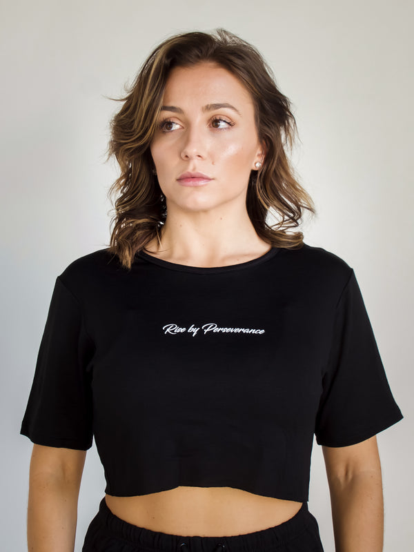 RBP Cropped Tee | Black