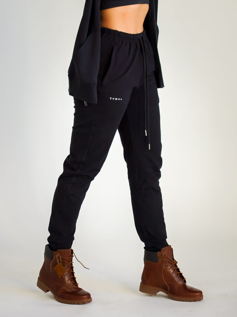 Sports Luxe Joggers | Black