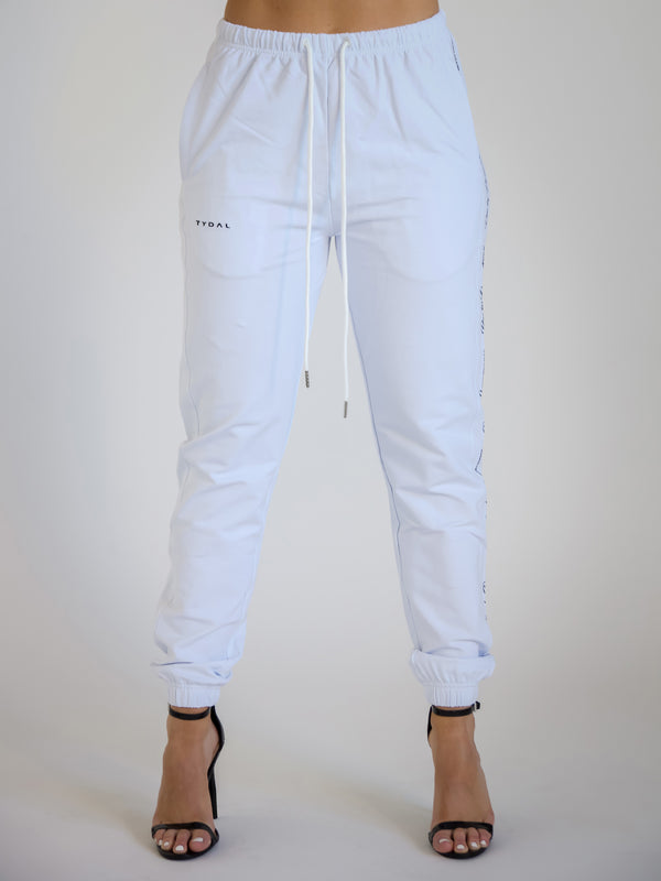 Sports Luxe Joggers | White