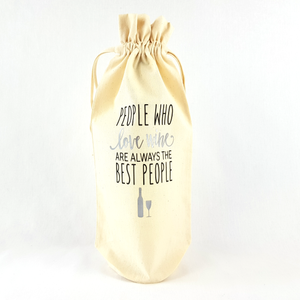 People Who Love Wine Bottle Bag (Silver)