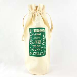 Wine Varietals Bottle Bag (Green)