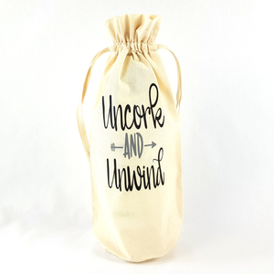 Uncork And Unwind Bottle Bag (Silver)