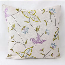 Embroidered Leaves Cushion