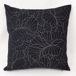 Black Patterned Cushion