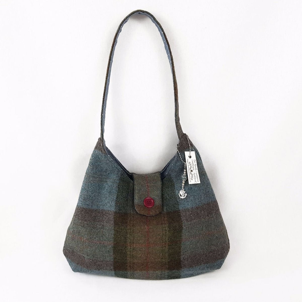 Blue/Brown Tartan Handbag