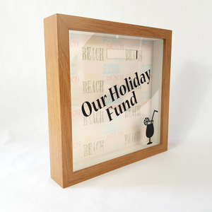 Our Holiday Fund - Money Box (Beach Words)