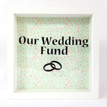 Our Wedding Fund - Money Box (Hearts Green)