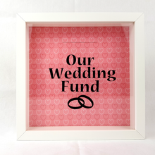 Our Wedding Fund - Money Box (Hearts Red)