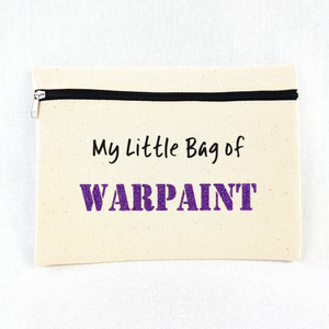 My Little Bag Of Warpaint Make Up Bag (Lavender Glitter)
