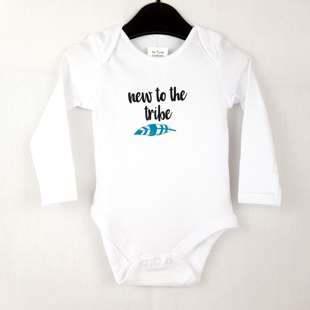 New to the Tribe - Long Sleeved Baby Onesie