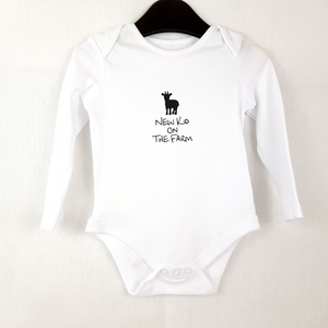 New Kid On The Farm Baby Onesie