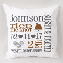 Wedding Announcement Cushion