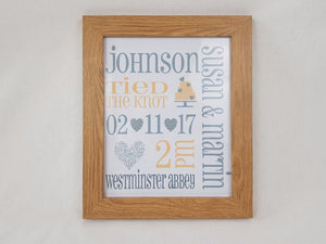 Wedding Announcement Framed Print