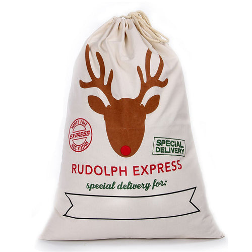 Rudolph Express Personalised Santa Sack