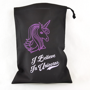 I Believe In Unicorns Drawstring Toy Bag