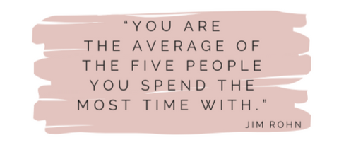 You are the average of the five people you spend the most time with Jim Rohn