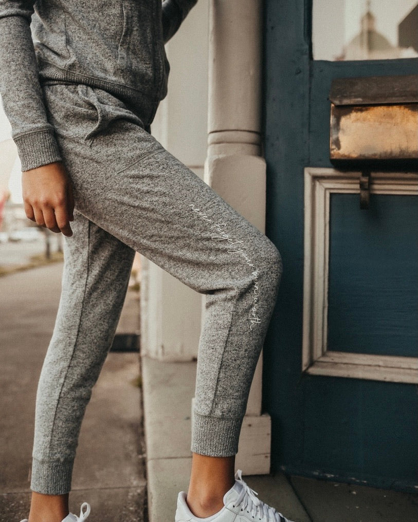 Never Forget Your Own Worth Cozy Joggers