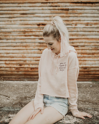You Are Capable of Amazing Things Cropped Hoodie, PinkCropHoodieXS, PinkCropHoodieS, PinkCropHoodieM, PinkCropHoodieL, PinkCropHoodieXL