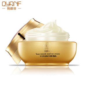 QYANF Whitening Snail eye Cream beauty Skin care Moisturizing Anti-Puffiness Anti-Aging Dark Circle Lift Firming Cream