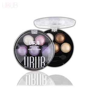 UBUB Professional Eyes Makeup Pigment Eyeshadow 5 Colors Eye Shadow Palette Beauty Brand