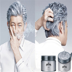 Silver Wax 120ml Men And women Professional Hair Pomades,Moisturizing Styling Fluffy Matte Stereotypes Waxes ,Hair Gel Pomades