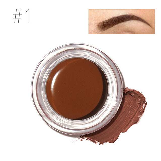 Professional Eye Brow Tint Makeup Tool Kit Waterproof High Brow 5 Color Pigment Black Brown Henna Eyebrow Gel With Brow Brush