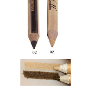 Professional 2 in 1 Double-end Make Up Waterproof Eyebrow Pen + Foundation Base Contour Makeup Face Concealer Pencil