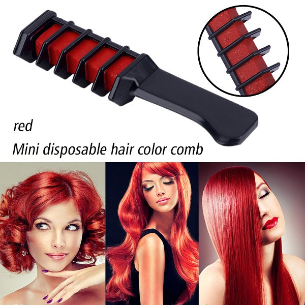 Mini Disposable Personal Salon Use Temporary Hair Dye Comb Professional Crayons for Hair Color Chalk Hair Dyeing Tool pastel