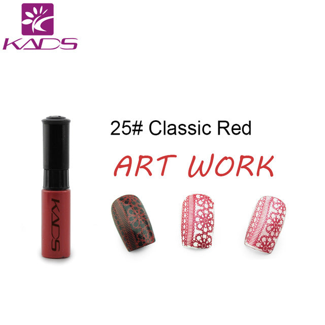 KADS Stamping nail polish Lacquer 5 Bottle//LOT 5 Color Nail Art nail polish set