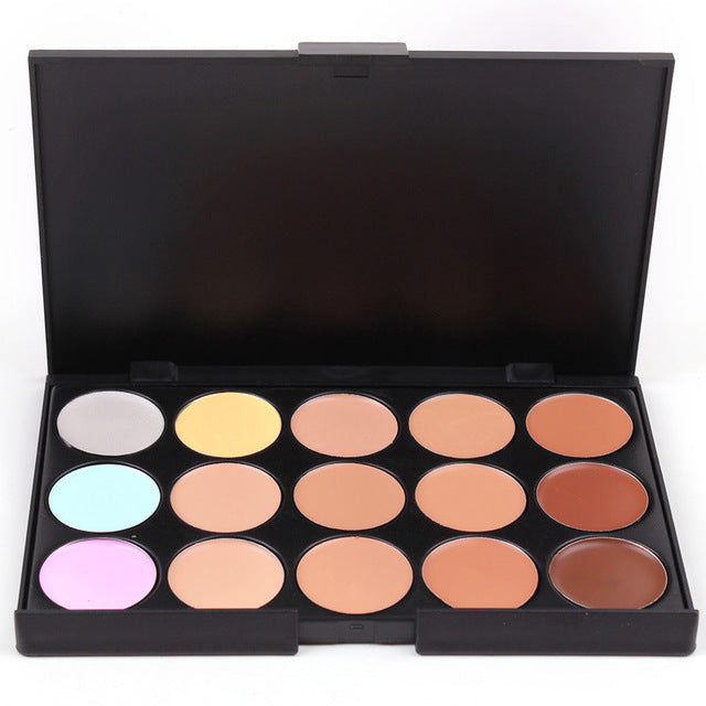 Natural Professional Concealer Palettes 15 Colors makeup Foundation Facial Face Cream Cosmetic contour palette concealer palette