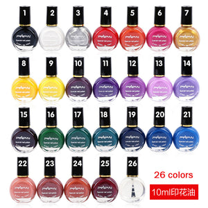 10ml/Bottle Stamp Polish Nail Polish & Stamp Polish Nail Art 26 Color Optional For Stamping Nail