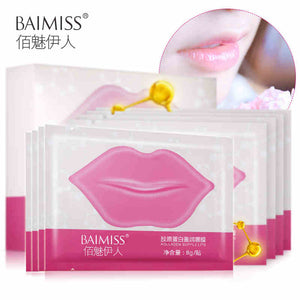 BAIMISS Collagen Lip Mask Lip Film Moisturizing Exfoliating Lips Care Beauty Essentials Without box (shelf life on the box)