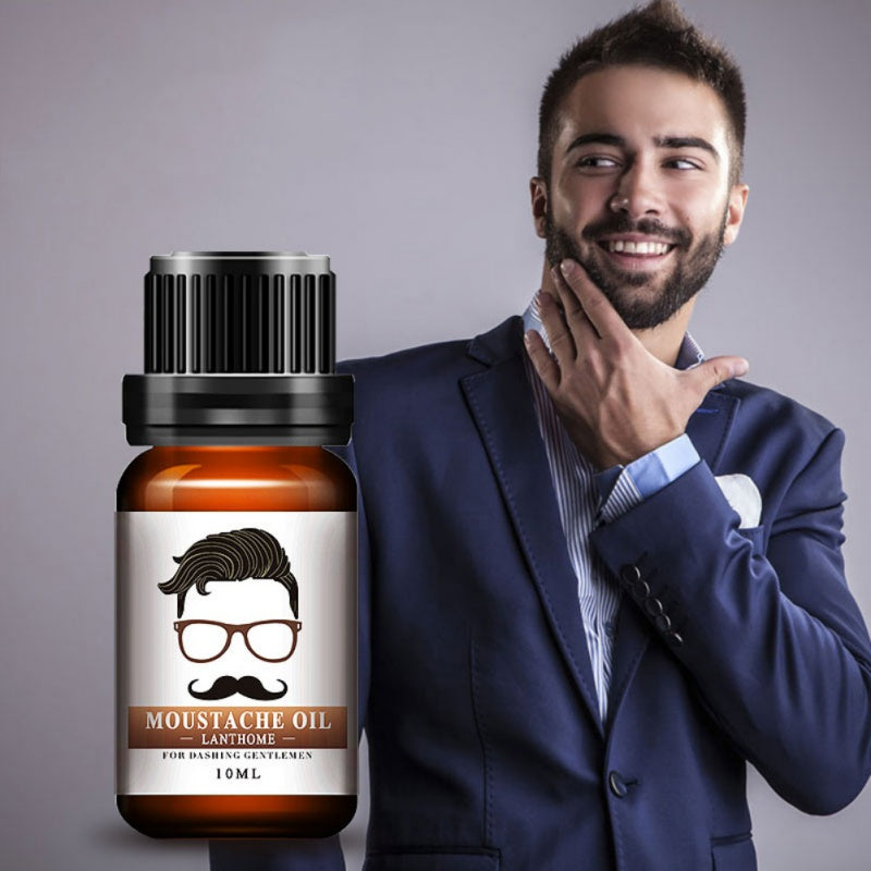 New100% Natural Men Beard Oil For Styling Beeswax Moisturizing Smoothing Gentlemen Beard Care Conditioner 10ml