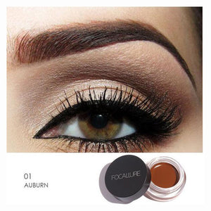 FOCALLURE 5 Color Henna Eyebrow Tint Makeup Waterproof Eyebrow Pomade Gel Enhancer Cosmetic Eye Makeup Eye Brow Cream with Brush