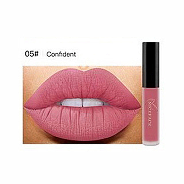 Long Lasting Matte Velvet Lip Gloss Cream Liquid Lipstick Women Makeup Cosmetic