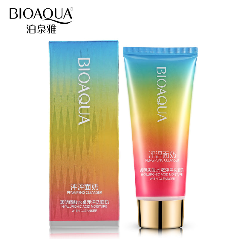 BIOAQUA Brand Hyaluronic Acid Pore Cleanser Moisturizer Remove Blackhead Acne Treatment Facial Skin Care Face Washing Product