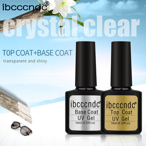IBCCCNDC 10ml Gel UV Nail Top Base Coat 80 Color Gel Polish Lacquer Semi Permanent Gel Varnish Nail Primer Top Coat Base Coat