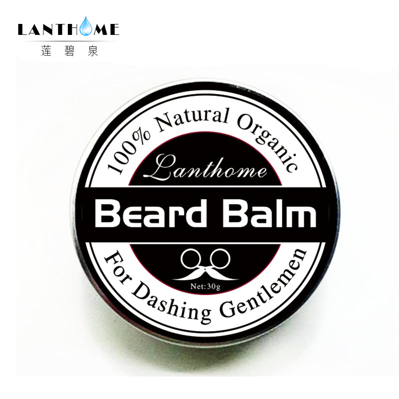 New Lanthome Beard Oil and Balm Moustache Wax beard grooming conditioner beard balm for styling moisturizing smoothing gentlemen
