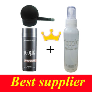 TOPPIK thinning hair loss fibers and  applicator fiber hold spray hair loss & bald patch fiber 9 color