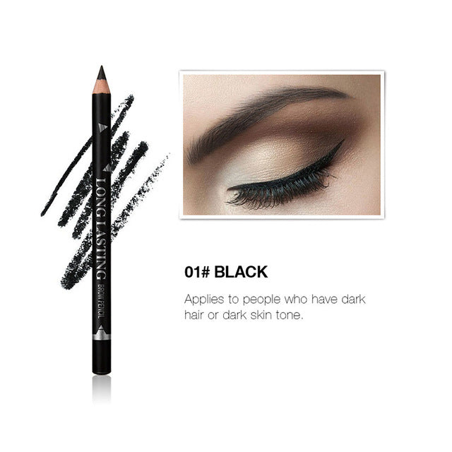 MENOW Brand Eyes Brow Cosmetics for Women Man Makeup Long Lasting Pigment Coffee Brown Black Waterproof Eyebrow Pencils