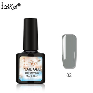 Lokai Gel UV Vernis Semi Permanent 10ML UV Nail Gel Polish Soak Off Long Lasting LED Nail Polish Gel Lacquer Base and Top Coat
