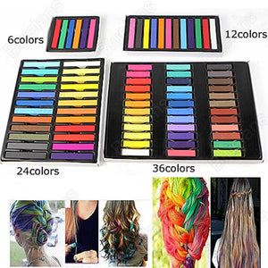 6 Hair Chalk Easy Temporary Colors Hair Chalk Dye Soft Hair Pastels Kit  Hair Beauty Care