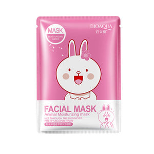 BIOAQUA Skin Care Animal Water Facial Mask Moisturizing Oil Control Whitening Shrink Pores Face Mask beauty Face Care Tony moly